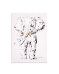 Childhome - Peinture Elephant - 30x40 cm - Pour La Pépinière