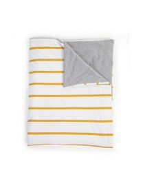 Childhome - Couverture - 80x100 cm - Jersey Ochre Stripes