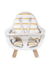 Childhome - Evolu Coussin De Chaise Haute Jersey - Ochre Stripes