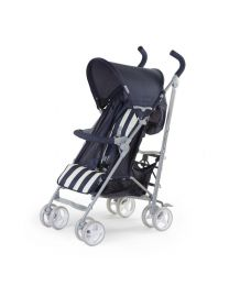 Childhome - Buggy 5 Pos Alu - Bleu/Blanc Retro Stripes