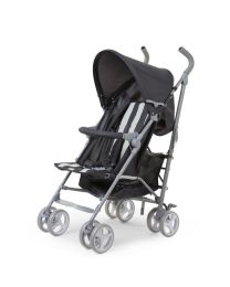 Childhome - Buggy 5 Pos Alu - Gris/Blanc Retro Stripes