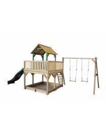 Axi - Maisonnette en bois pour enfants Atka (Balançoire Double)