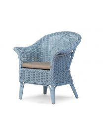 Childhome - Mimo Kid Wicker et Coussin - Bleu - Chaise pour enfants