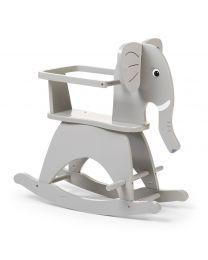 Childhome - Elephant et Barres - Gris - Cheval à bascule en bois