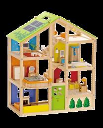 Hape - Maison De Poupées 4 Saisons - Maison de poupée en bois
