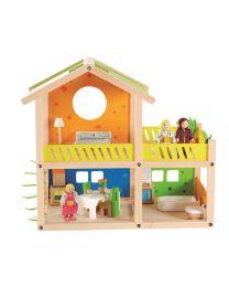 Hape - Happy Villa - Maison de poupées en bois