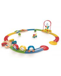 Hape - Sights & Sounds Railway Set - Train en bois