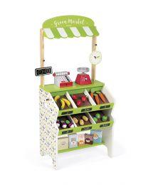 Janod - Epicerie Green Market - Cuisine pour enfants en bois