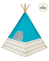 Kidkraft - Tipi - Turquoise - Tente de jeu