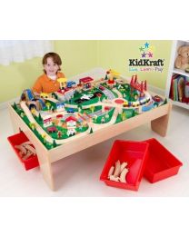 Kidkraft - Ensemble Table Et Circuit De Train Waterfall Mountain