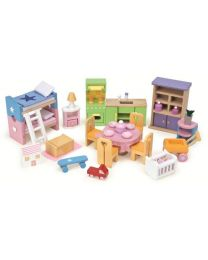 Le Toy Van - Premier Set d'Ameublement - Pour la maison de poupée