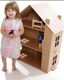 Paperpod - Maison de Poupée en carton Brun