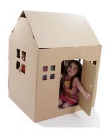 Paperpod - Maison de Jeux en carton Brun