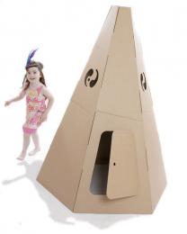 Paperpod - Tipi en carton Brun