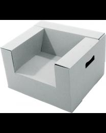 Paperpod - 2 Fauteils Enfant en carton Blanc
