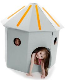Paperpod - Cabane en carton Blanche