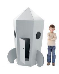 Paperpod - Fusée en carton Blanche