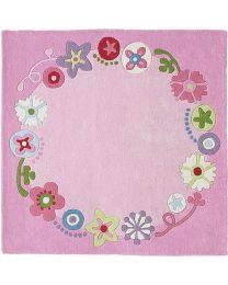 Haba - Couronne Fleurie - Tapis pour enfants - 140x140cm