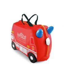 Trunki - Frank Camion de pompiers - Ride-on et valise de voyage - Rouge