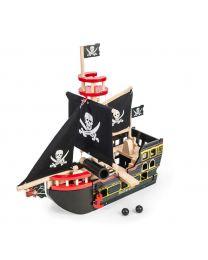 Le Toy Van - Bateau du Pirate Barbarossa - Ensemble de jeu en bois