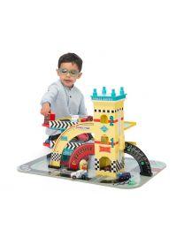 Le Toy Van - Garage Auto de Mike - Ensemble de jeu en bois