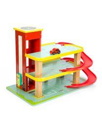 Le Toy Van - Garage Rouge de Dino - Ensemble de jeu en bois