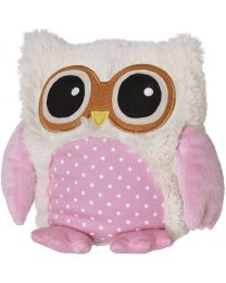 Warmies - Chouette Rose - Peluche pour micro-ondes