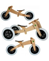 Wishbone Bike - 3-en-1 Naturel - Draisienne en bois