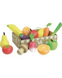 Vilac - Set de fruits et légumes 'Jour de marché'